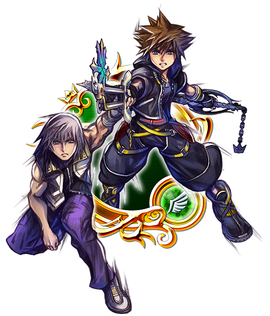 Illustrated KH II Sora & Riku [EX]