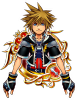 Illustrated KH II Sora 6★ KHUX.png