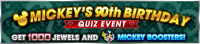 Event - Mickey's 90th Birthday Quiz Event banner KHUX.png