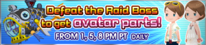 Event - Defeat the Raid Boss to get avatar parts! banner 2 KHUX.png