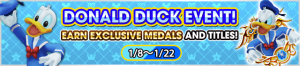 Event - Donald Duck Event! - Earn Exclusive Medals and Titles! banner KHUX.png